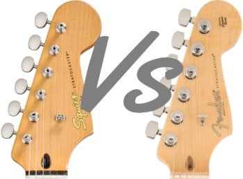 Squier vs Fender Strat