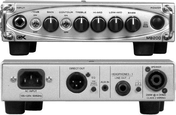 Gallien-Krueger MB200 bass amp head