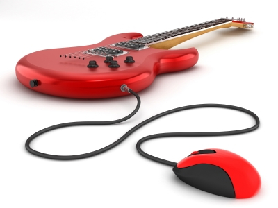 guitar and computer mouse