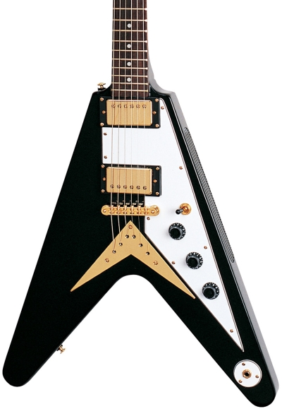 V style electric guitar