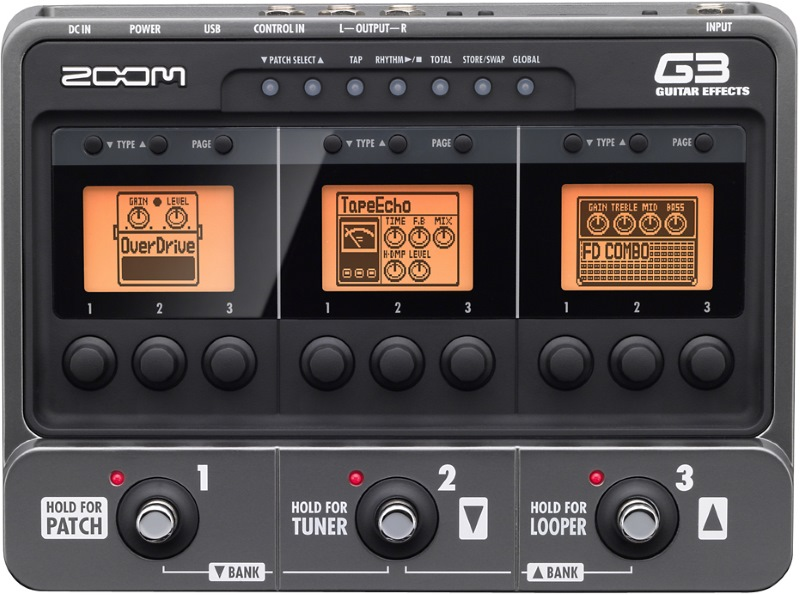 Zoom G3 multi effects pedal